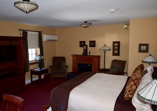 Hawley, Pensilvanya: King sized room with fireplace and double jaciuzzi