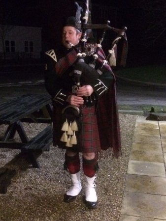 Saxmundham, UK: Burns Night Piper January 2017