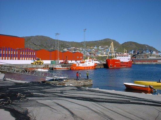 Qaqortoq, Groenland : Scene fra havnen