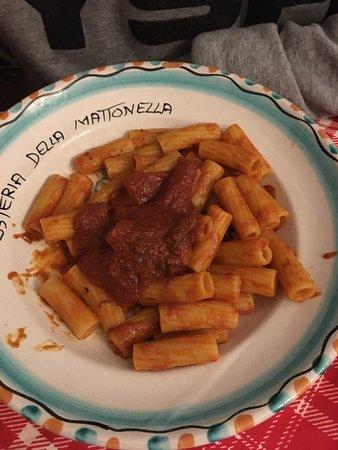Osteria della Mattonella: Pasta al ragù
