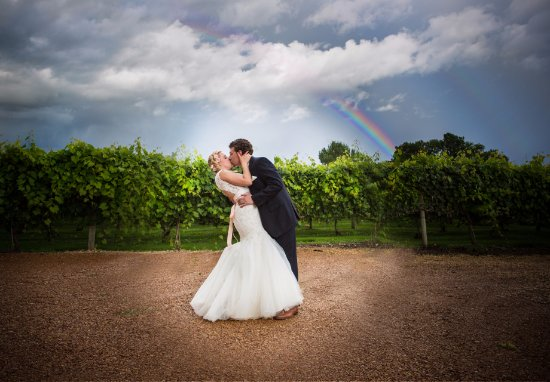 New Prague, MN: Beautiful Rainbow at a Next Chapter Winery Wedding