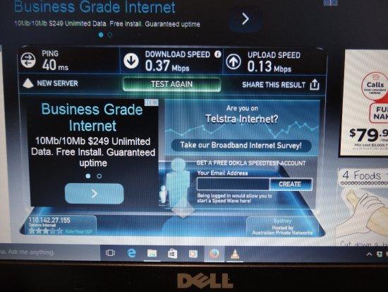 Gunnedah, Australia: Speed of internet
