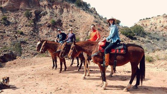 Canyon, تكساس: Horseback riding at Palo Duro Riding Stables.