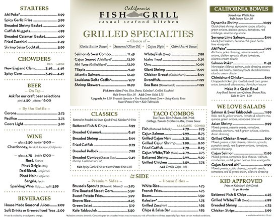 Cypress, Californië: CFG Menu
