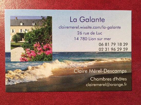 Lion-sur-mer, Francja: Ma carte