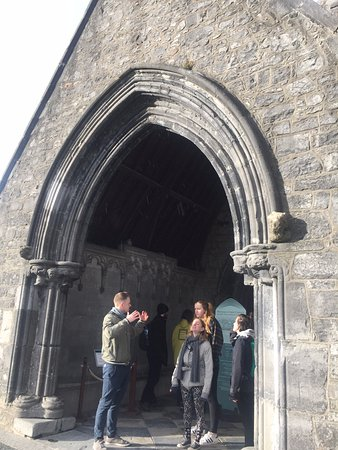 Kilkenny Cycling Tours: Colm and my friends standing in front of St. Canice's Cathedral.