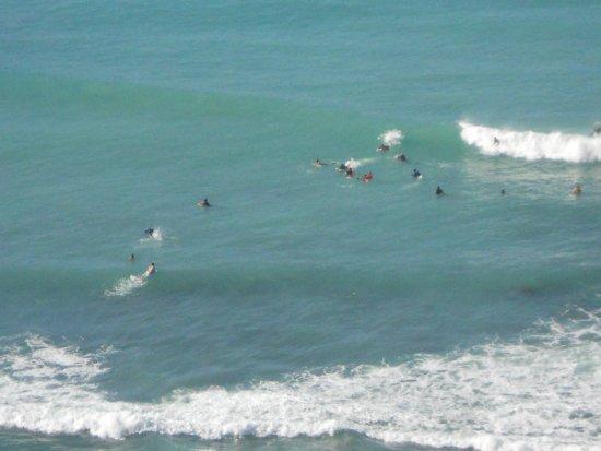 Waikiki Beach Marriott Resort & Spa: Surfers enjoying the waves