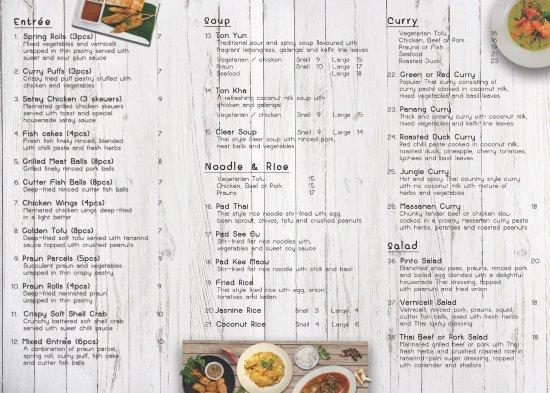Coolum Beach, Australien: Take-away menu