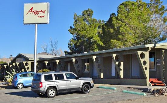 The Atomic Inn: Facing South 1st St.