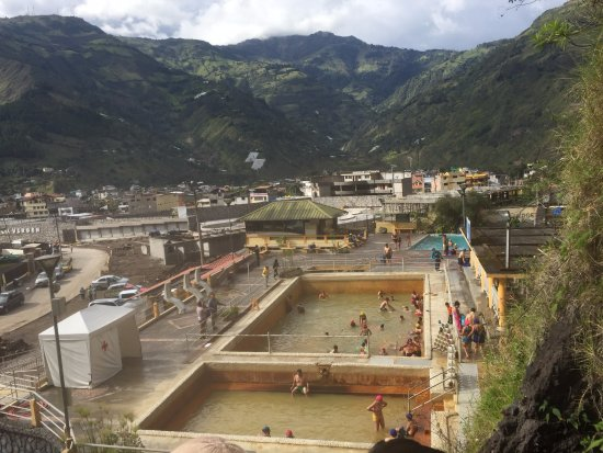 Sangay Spa Hotel: The Hot Springs across the street