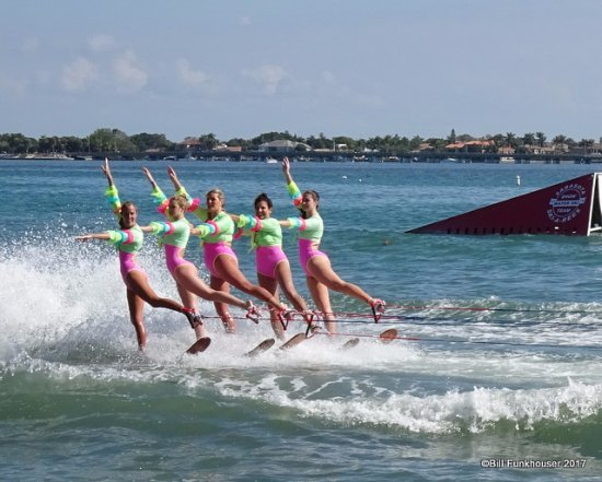 Sarasota Ski-A-Rees Water Ski Show: There are a number of these water ski ballet moves that are beautiful to watch.