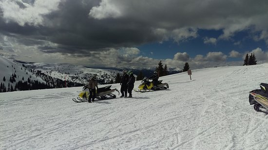 Red Cliff, CO: Snowmobiling with Nova Guides about 11,500' near Vail Pass, Colorado