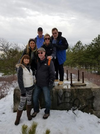 Kerhonkson, NY: Cousins hiking the Peters Kill Trail at Minnewaska State Park