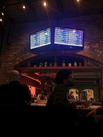 Kalamazoo Beer Exchange : Price board over second level bar