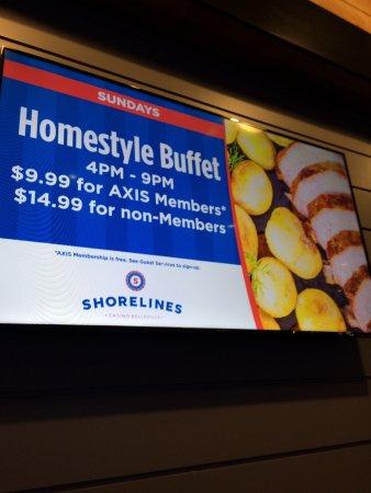 Shorelines Casinos Belleville Buffet
