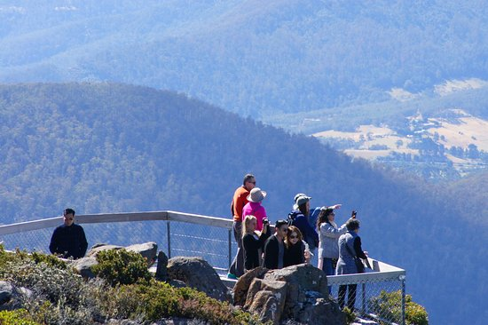 Mount Wellington: good viewing platforms with easy elevated walkways
