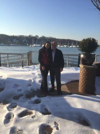 Huntington, NY: Enjoying the outside, snowy view.