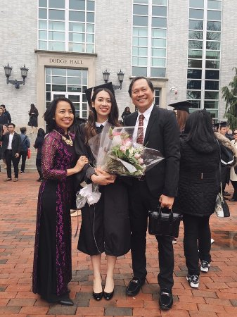 with my lovely daughter in her graduation day picture of boston