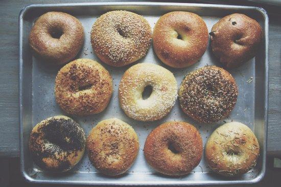 Hamilton, نيويورك: bagels!