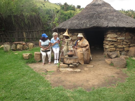 Basotho Cultural Village: drinking with the chief