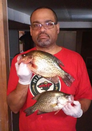 Walker, MN: Phil put us on the crappies that day.