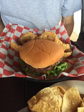 Seguin, TX: Excellent bison burger -- NOT dry like so many places!