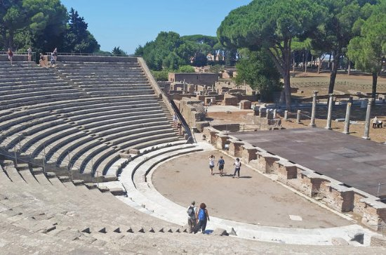 Ostia with Theater, Baths Small-Group