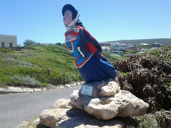 Struisbaai, แอฟริกาใต้: Near the entrance to the info centre at the lighthouse
