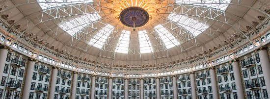 West Baden Springs, IN: The dome at night.