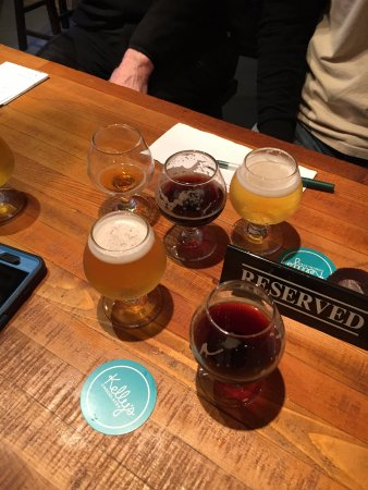 Tacoma, WA: Beer samplers for tasting at Dunagan Brewing.