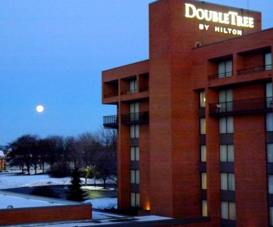 DoubleTree by Hilton Hotel Syracuse: View from our room, moments before lake effect snow blew in from no where