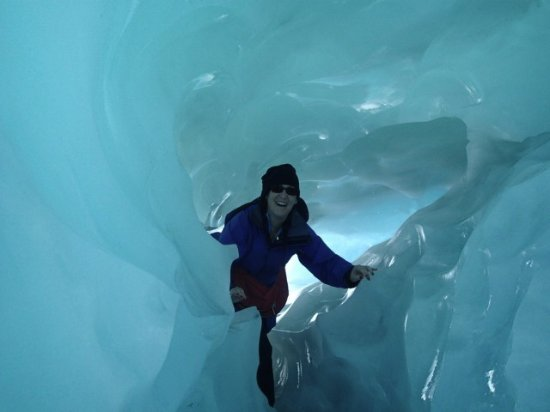 Franz Josef, Nowa Zelandia: walking through ice caves