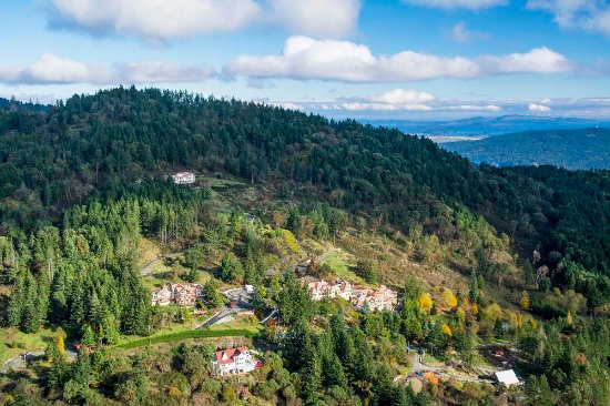Malahat, Canadá: Aerial View of the Villa Eyrie Resort