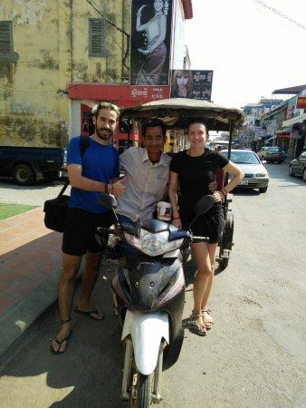 Battambang, Cambodia: souvenir picture with Mr Fie