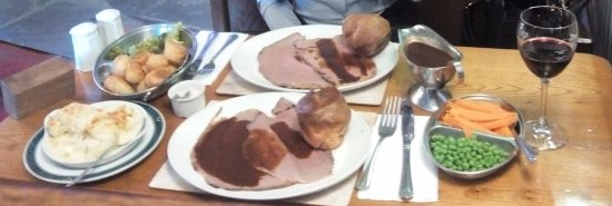 Coleford, UK: Sunday roast, had to sleep it off!