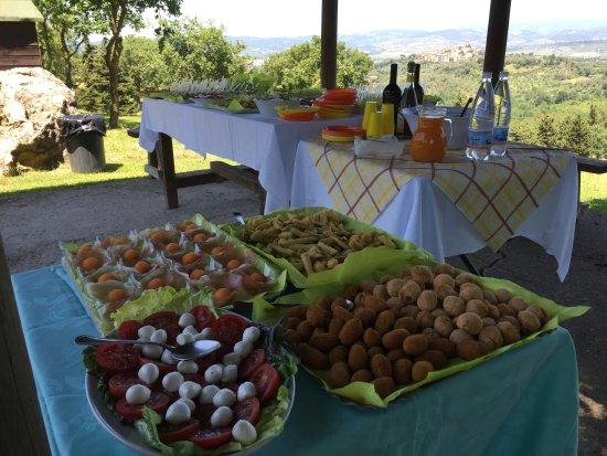 Montemerano, Italy: I nostri buffet