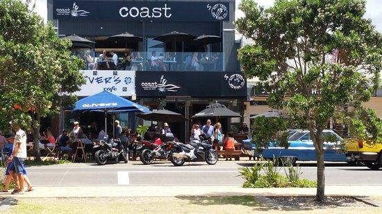 Orewa, Νέα Ζηλανδία: Looking back at restaurant
