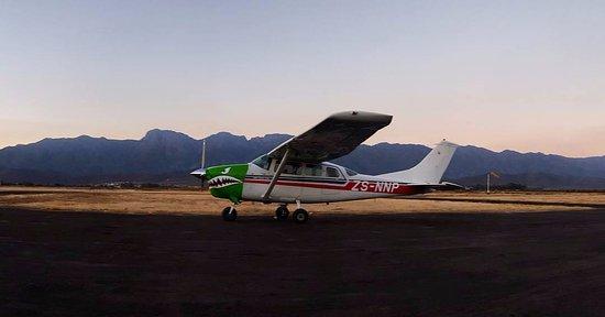 Robertson, Sudáfrica: The plane