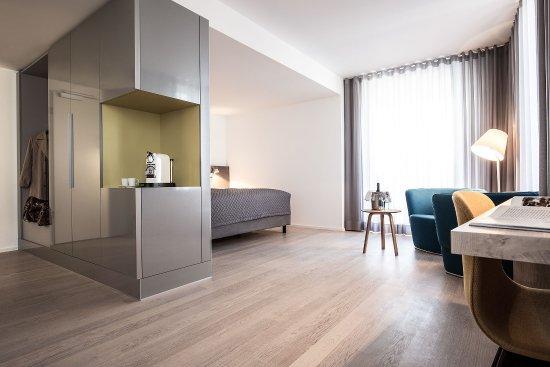 Landau in der Pfalz, Almanya: Junior Suite mit Dachterrasse und Trifelsblick