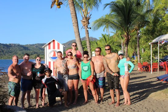 Playa Potrero, Costa Rica: Latitude Surf Experience Wedding Party Stand Up Paddle's WINNER IS!!!! Everyone!!!!!