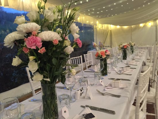 Canungra, Australia: Seated Functions in the Marquee up to 200 guests for weddings and parties of distinction
