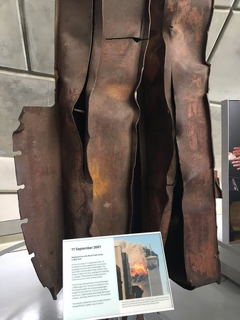 Duxford, UK: a segment of the World Trade Centre after Sept 11