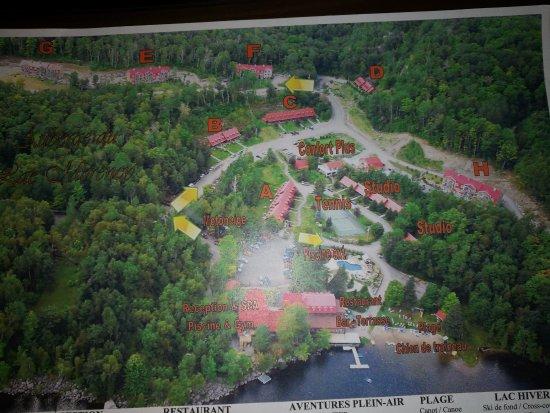 Saint Hippolyte, Canada: plan des batiments