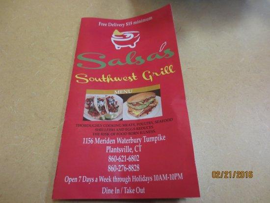 Southington, CT: menu cover