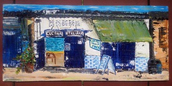 Cucina Italiana: Рисовала год назад. Самое душевное место для ужина❤️