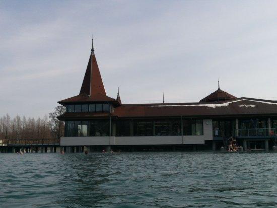 Thermal Lake of Heviz: В феврале температура воздуха -5 градусов, а воды +26