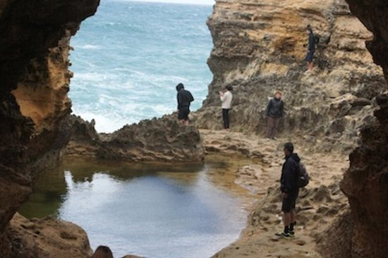 "Port Campbell, Australie : ""Inside the Grotto"""