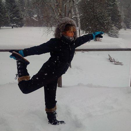 Bancroft, Canada: Yoga on the Patio