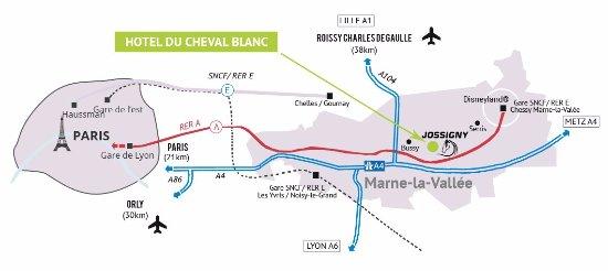 Jossigny, France: Plan d'accès à l'hôtel