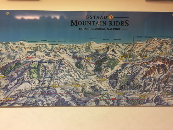 just a map of ski slopes Picture of Gstaad Palace Hotel Gstaad